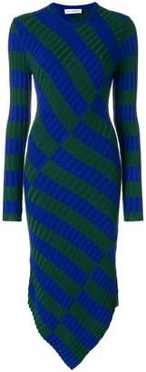 Altuzarra asymmetric stripe dress