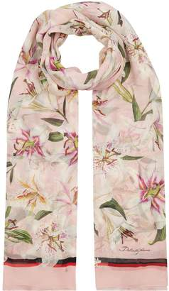 Dolce & Gabbana Crepe Silk Lily Scarf