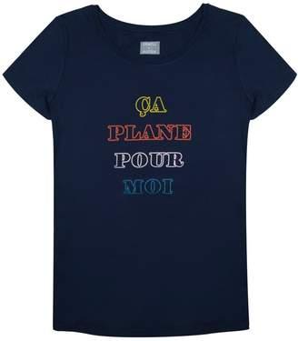 Pour Moi? Orwell + Austen Cashmere - Ca Plane Pour Moi T-Shirt in Navy