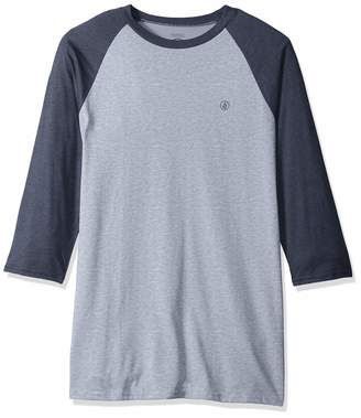 Volcom Men's Solid Heather 3/4 Sleeve Raglan Shirt
