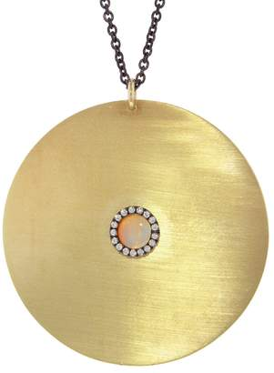 Ileana Makri EYE M by Large Opal And Sapphire Sun Necklace