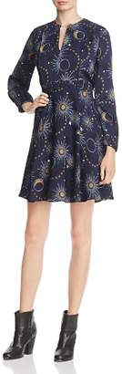 Whistles Galaxy-Print A-Line Dress