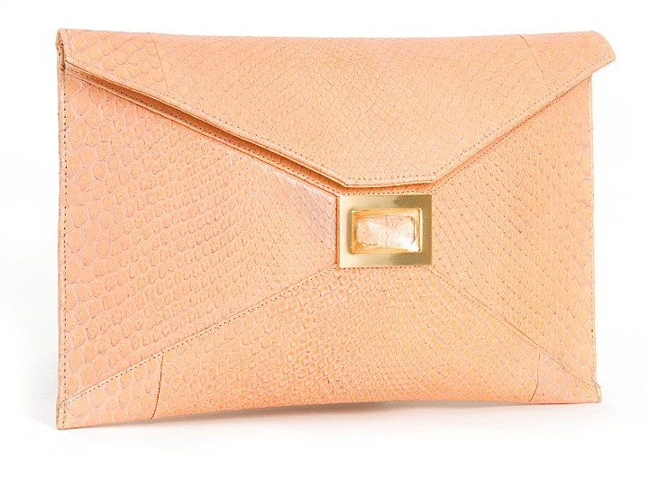 Kara Ross Prunella Python Envelope Clutch