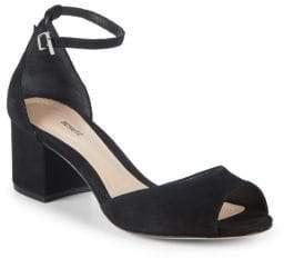 Schutz Roama Suede Ankle-Strap Sandals