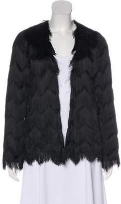 Alexis Fringe Open Front Jacket