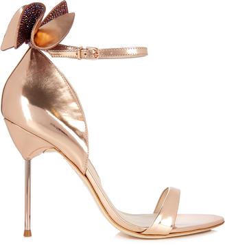 SOPHIA WEBSTER Maya embellished-bow leather sandals $510 thestylecure.com