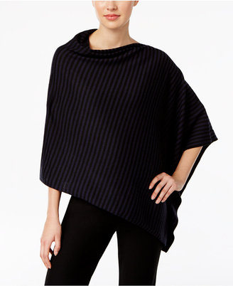 Eileen Fisher Merino Wool Striped Poncho Sweater, A Macy's Exclusive $178 thestylecure.com
