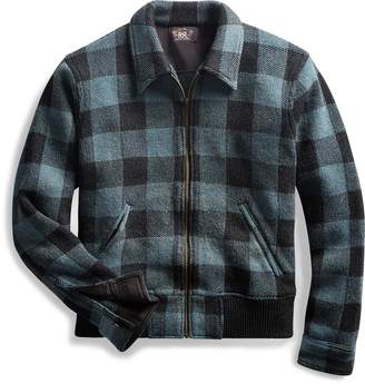 Ralph Lauren Indigo Plaid Full-Zip Sweater