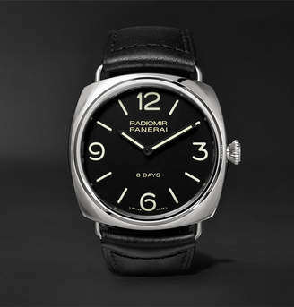 Panerai Officine Radiomir Black Seal 8 Days Acciaio 45mm Stainless Steel and Leather Watch