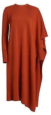 Oscar de la Renta Women's Multi-Purpose Draped Virgin Wool & Silk Sweater