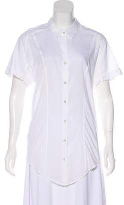 Helmut Lang Short Sleeve Button-Up Top