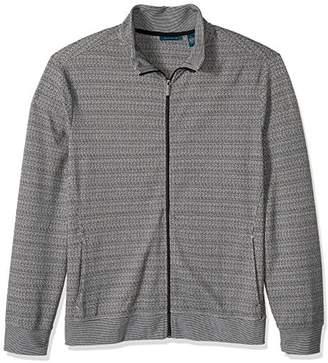 Perry Ellis Men's Jacquard Pattern Full Zip Knit Jacket