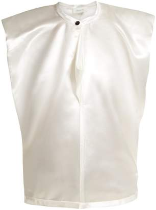 Lemaire Round-neck satin top