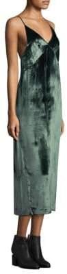 J Brand Blessing Moorland Velvet Dress