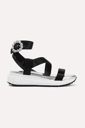 0635ff952a Miu Miu Crystal Embellished Women's Sandals - ShopStyle
