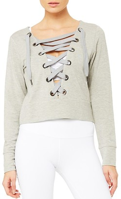 Alo Yoga Ideal Lace-Up Top $82 thestylecure.com