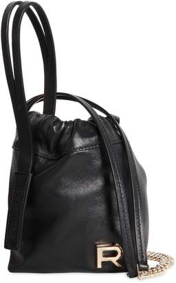 Rochas Mini Leather Bucket Bag
