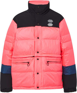 Off-White Convertible Colorblocked Shell Puffer Coat