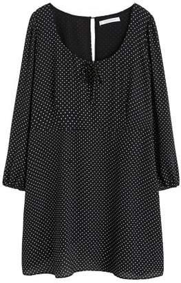 Violeta BY MANGO Bow polka-dot dress