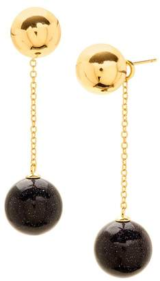 Gorjana Newport Glitter Ball Chain Drop Earrings