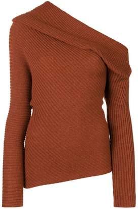 Roberto Cavalli asymmetric knitted top