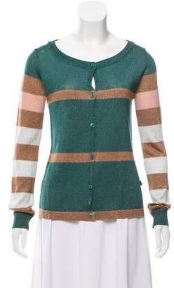 Just Cavalli Metallic Stripe Cardigan