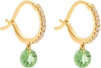 Raphaele Canot Set Free Diamond, Tsavorite And 18kt Gold Earrings - Womens - Green