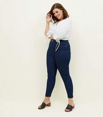 13311c7a6e0 Blue High Waisted Skinny Jeans - ShopStyle UK