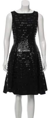 Oscar de la Renta Wool Cocktail Dress
