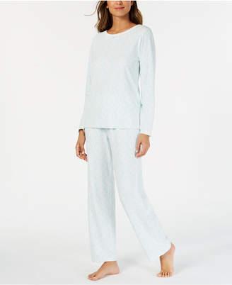 Charter Club Printed Thermal Fleece Pajama Set
