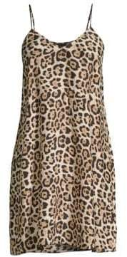 ATM Anthony Thomas Melillo Silk Leopard Camisole Dress
