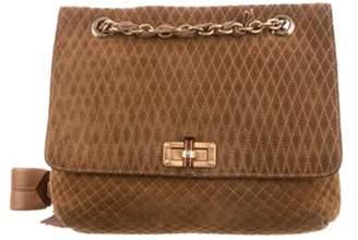 Lanvin Quilted Suede Shoulder Bag brown Quilted Suede Shoulder Bag