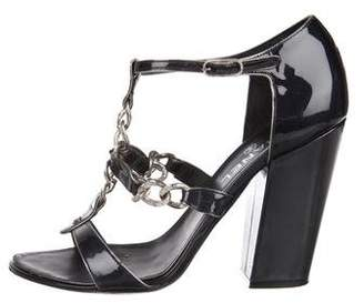 Chanel Chain-Link Multistrap Sandals