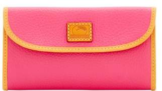 Dooney & Bourke Patterson Leather Continental Clutch Wallet - HOT PINK - STYLE