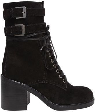 80mm Pilar Lace Up Suede Ankle Boots $1,597 thestylecure.com