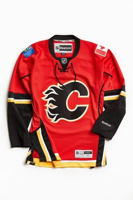 Reebok NHL Premium Flames Hockey Jersey $130 thestylecure.com