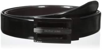 Geoffrey Beene Men's 32 mm Feather Edge Plaque Belt