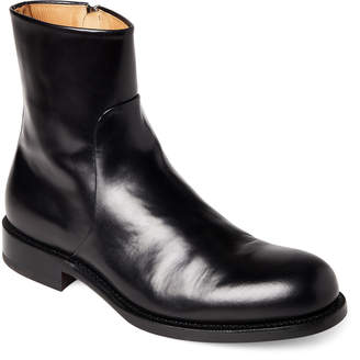 Jil Sander Black Leather Ankle Boots