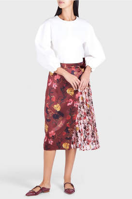 Mother of Pearl Mittie Print Pleated Midi Skirt