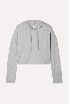 We/Me - The Zen Stretch-jersey Hoodie - Gray