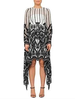 Thurley Hamptons Long Sleeve Drape Dress