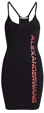 Alexander Wang Women's Logo Bodycon Mini Dress
