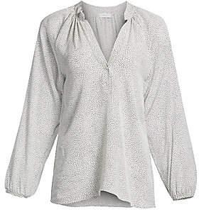 A.L.C. Women's Jules Dot Pattern Silk Blouse