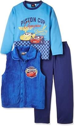 Disney (ディズニー) - (ディズニー) Disney カーズベスト付きダンボールスウェット 371101031 ブルー 130