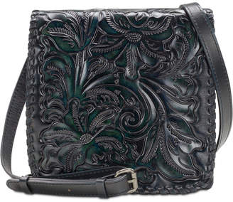 Patricia Nash Granada Burnished Tooled Leather Crossbody