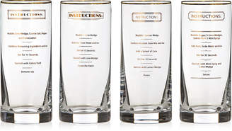 Marquis by Waterford Vim & Vigor Collection Recipe Highball Glasses, Set of 4