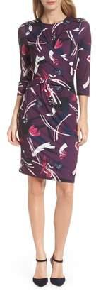 Eliza J Crossover Bodice Jersey Sheath Dress