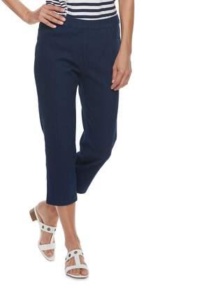 Alfred Dunner Women's Studio Pull-On Denim Capri Pants