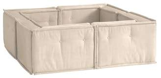 Pottery Barn Teen Cushy Pit Sectional Set, Cement Faux-Suede, QS EXEL