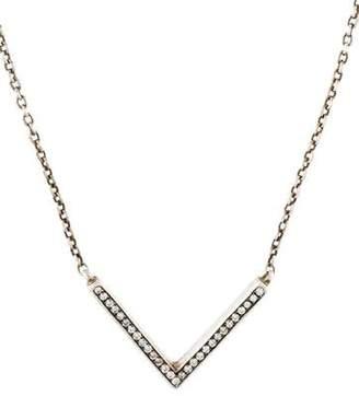 Ippolita Diamond Stella V-Pendant Necklace